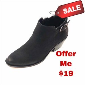 Sonoma Gigi black ankle Booties #73277 8M Near New